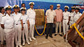 Inauguration of plaque on the occasion of keel laying ceremony of the Sister Boat of Indian Navy's Sailing Vessel Mhadei.jpg