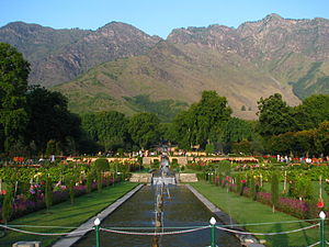 Islamic garden - Nishat Gardens, a Mughal garden in Kashmir
