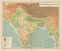 India Orographical Features Plate 4, Imperial Gazetteer of India, Atlas, 1909.jpg