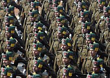 n army   iers of the madras regiment during a republic day parade