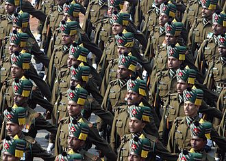 Public holidays in India - Soldiers of the Madras Regiment during the annual Republic Day Parade in 2004