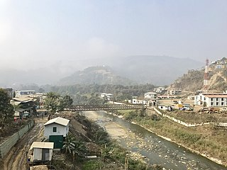 Zokhawthar village in Mizoram, India