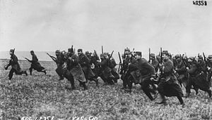 First Battle of the Marne - French infantry charge, 1914