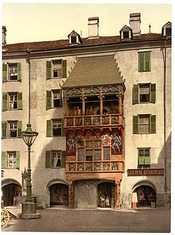 Innsbruck, the Golden Porch, Tyrol, Austro-Hungary-LCCN2002711045
