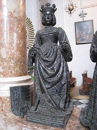 Elizabeth of Luxembourg - Statue of Elizabeth at Hofkirche, Innsbruck