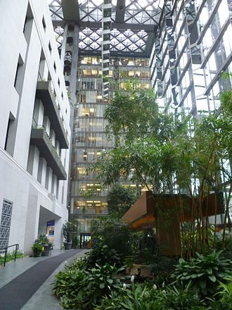 Bank of Canada Building - Atrium of the 1979 glass addition