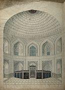 Inside the Taj Mahal in Agra, India Wellcome V0046065