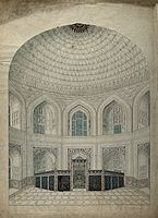 Great Interior View Of The Vaulted Dome Over The Tombs Of Shah Jahan And Mumtaz.