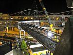 Installation of SeaTac Airport Station pedestrian bridge (3908874530).jpg