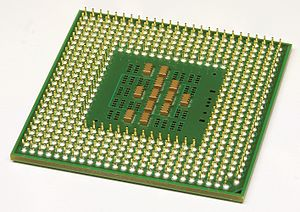 Pentium M - Backside of a Pentium M 1.4
