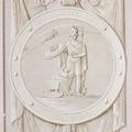 Interiör, detalj. Minnesrundeln. Grissaillemåleri. Karl XIV Johans födelse - Skoklosters slott - 85962.tif