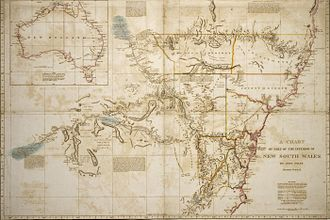 William Dixson - Map of the interior of NSW, 1822 by John Oxley. Part of the Dixson map collection
