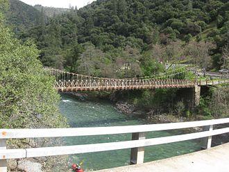 Iowa Hill, California - Iowa Hill bridges over the  North Fork of the American River