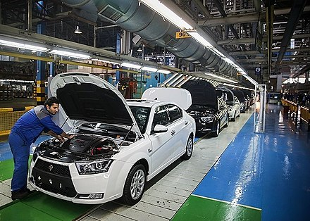 Iran Khodro is the largest car manufacturer in the Middle-East. It has established joint-ventures with foreign partners on 4 continents. Iran Khodro factory 2.jpg