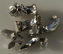 Pieces of pure iridium