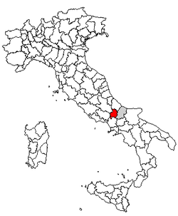 Location of Province of Isernia