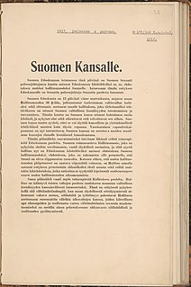 Finnish Declaration of Independence adopted by the Parliament of Finland on 6 December 1917