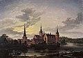 J.C. Dahl, Frederiksborg Slot i måneskin, 1817, 0189NMK, Nivaagaards Malerisamling.jpg