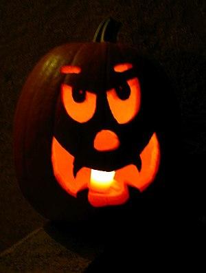 Jack-o'-lantern on Halloween