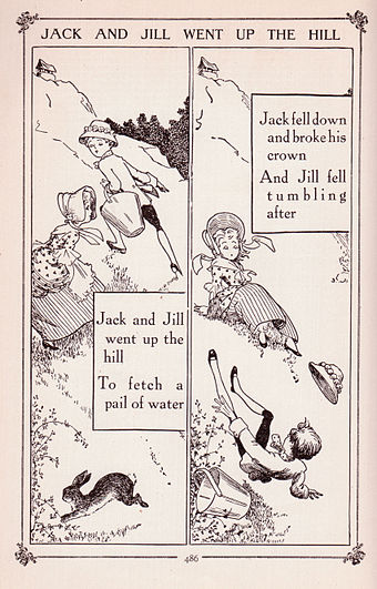 Jack And Jill From The Book Of Knowledge Children S Encyclopedia 1912