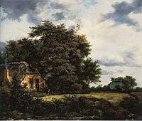 Jacob van Ruisdael - Cottage under Trees near a Grainfield.jpg