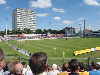 Football at the 1972 Summer Olympics - Image: Jahnstadion (Regensburg) Jahn vs. Unterhaching 2010