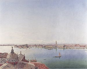 Jakob Alt - Image: Jakob Alt Panoramaansicht von Venedig ca 1835