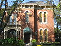 James Whitcomb Riley House in Indianapolis, closeup front.jpg