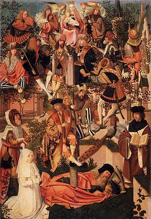 Tree of Jesse - (Painter related to) Geertgen tot Sint Jans, c. 1500, oil on panel