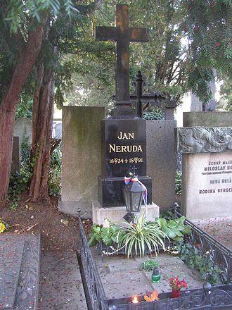 Jan Neruda - Neruda's grave.