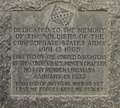 January 19, 1933 dedication date of monument by United Daughters of the Confederacy, Minden Chapter No. 1421 detail, from- Revised Confederate monument, MInden, LA IMG 0037 (cropped).JPG