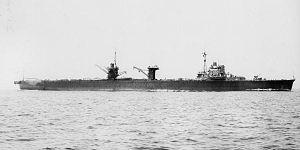 Japanese seaplane carrier Mizuho - Japanese seaplane carirer Mizuho in 1940 off Tateyama