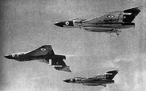 Gloster Javelin - Javelin FAW 7s of No. 64 Squadron RAF in 1959.