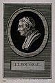 Jean-Jacques Rousseau. Line engraving by A. de St Aubin afte Wellcome V0005118.jpg