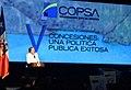"""Jefa de Estado en Congreso de Concesiones """"Chile está en el primer lugar de competitividad y desempeño logístico de América Latina"""" (22399970531).jpg"""