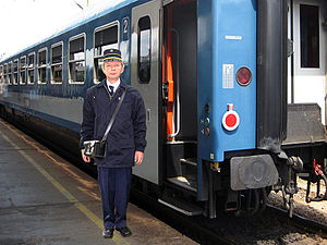 Conductor (rail) -  Hungarian conductor