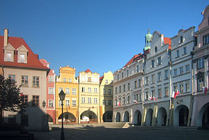 Jelenia Góra Valley - market place of Jelenia Góra, center of Jelenia Góra valley