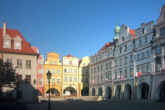 Jelenia Góra Valley - market place of Jelenia Góra, center of Jelenia Góra valley