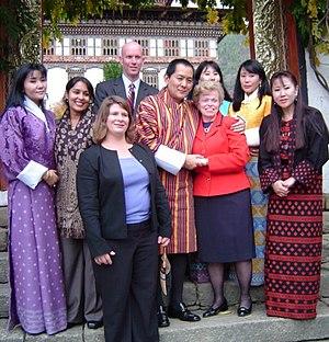 Jigme Singye Wangchuck - Jigme Singye Wangchuck in 2007 with Ellen Sauerbrey.