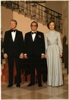 Jimmy Carter, Josip Tito and Rosalynn Carter pose for a formal portrait during a state dinner. - NARA - 178273.tif