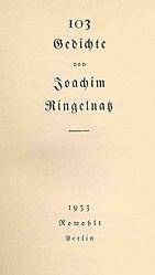 Joachim Ringelnatz: 103 Gedichte