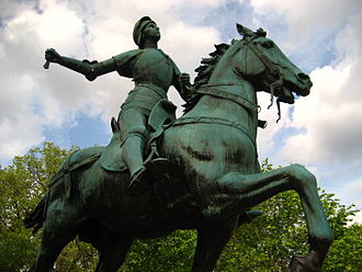 Joan of Arc (Dubois) - Image: Joan of Arc at Meridian Hill Park