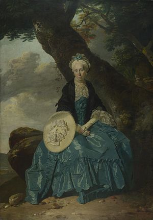 Richard Oswald (merchant) - Mary Oswald, portrait by Johann Zoffany