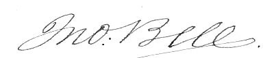John Bell (Tennessee politician)'s signature