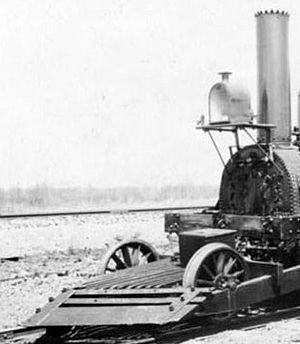 Isaac Dripps - Dripps cowcatcher on John Bull railroad locomotive
