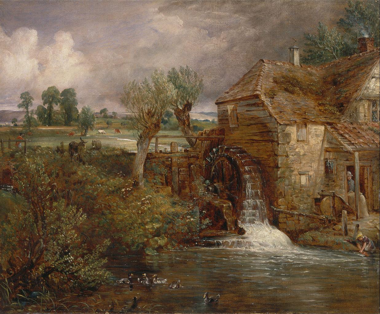 File john constable parham mill gillingham google art - Cottage anglais connecticut blansfield ...