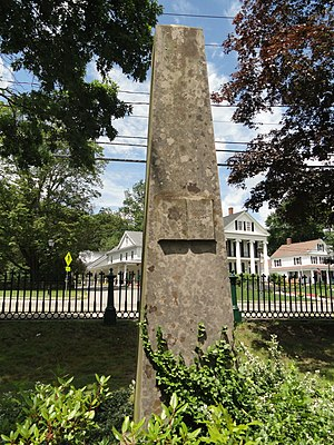 Nipmuc - Monument to John Eliot in South Natick, site of the first Praying town in Massachusetts.