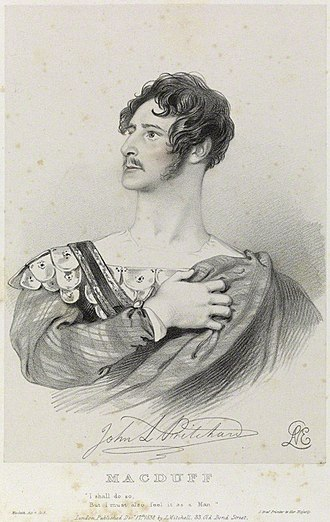 Macduff (Macbeth) - John Langford Pritchard as Macduff, depicted by Richard James Lane in 1838
