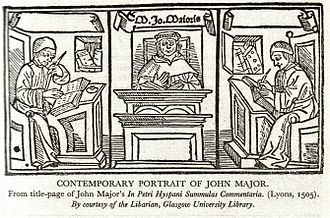History of education in Scotland - A woodcut showing John Mair, one of the most successful products of the Scottish educational system in the late fifteenth century