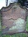 John Parker's gravestone, Knarsdale, Northumberland.JPG